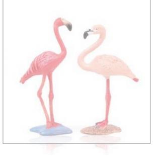 Flamingo Toy Garage Decorate Toys Cake Ornament Simulation K