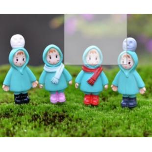 2Pcs Cartoon Characters For Miniature Micro Landscape Pot Cultur